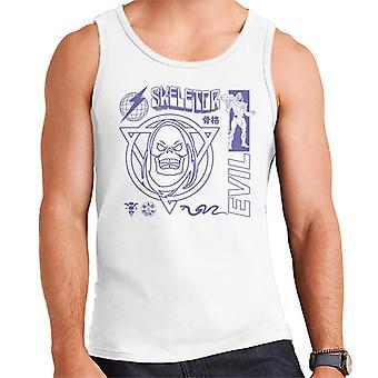 Masters Of The Universe Skeletor Evil Purple Text Men's Vest