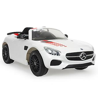 Licensed Mercedes AMG GT-S 12V Electric Ride on Car White - Injusa