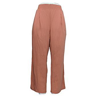 Nogen Kvinder & apos;s Petite Pants Cozy Strik Wide-Leg Orange A347173