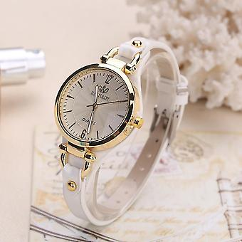 Fashion Colorful Leather Band femmes Simple Dial Rose Gold Case Quartz Watch