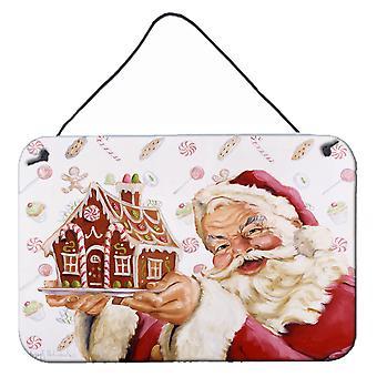 سانتا كلوز منزل للعطلات الجدار أو الباب شنقا يطبع