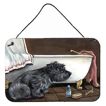 كيرن الكلب حمام وقت الجدار أو باب شنقا يطبع