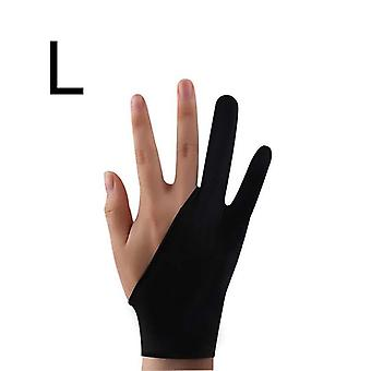 2-finger Tablet Drawing Anti-touch Gloves