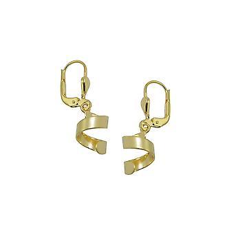 Earring Short Spiral 8k Gold