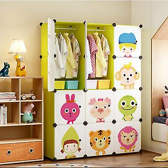 Cartoon Baby Wardrobe Cloth Assembled Simple Multi-purpose Plastic Cabinet