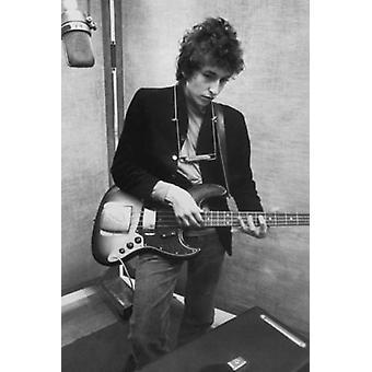 Bob Dylan Studio bassgitar plakat plakatutskrift