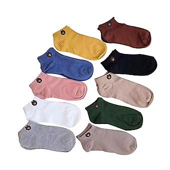 10 paires femmes casual cheville chaussettes coton mignon bear shaped crew socks comfortable seamless sock