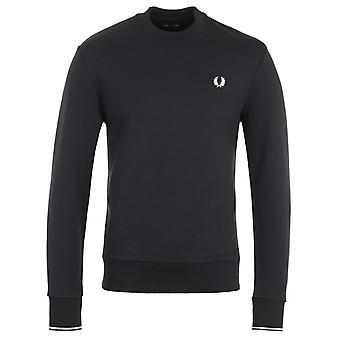 Fred Perry Crew Neck Sweatshirt - Black