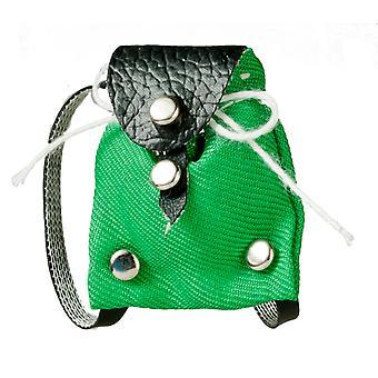 Dolls House Green Backpack Modern Bag Miniature 1:12 Accessory