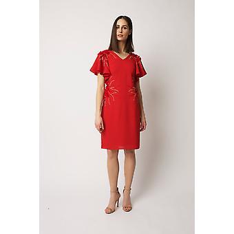 Red malia dress