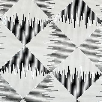 Aztec Geometriska Tapet Mono Arthouse 909401