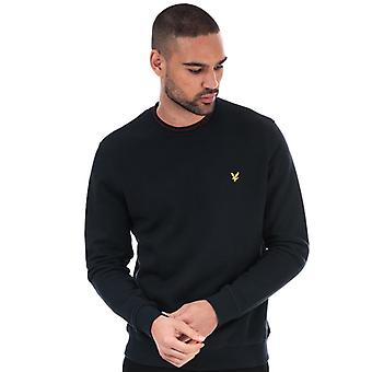 Men's Lyle And Scott Branded Ringer Sweatshirt in Blue