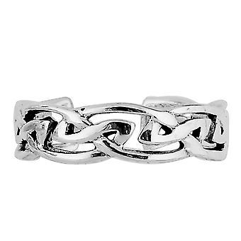 الجنيه الاسترليني الفضة الثالوث عقدة الكفة نمط قابل للتعديل خاتم اصبل