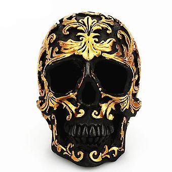 Resin Craft Black Skull Head