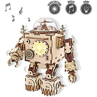 ROKR 3D Wooden Puzzles For Adult - Musical Robot Model Kits to Build