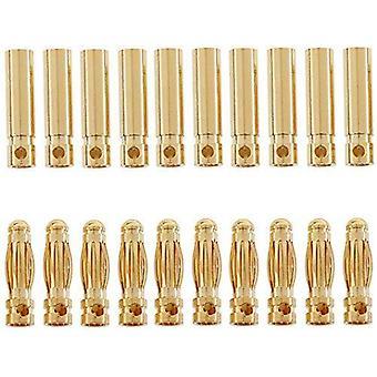 10 Pares de conectores de banana de 4mm para lipo rc para baterias de modelagem de lipo rc