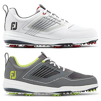 Footjoy Mens Fury Leather Waterproof Spiked Golf Shoes