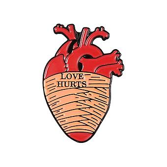 Organ Heart Collection Enamel Pin, Rose Brooch Bag Lapel Badge Bijoux
