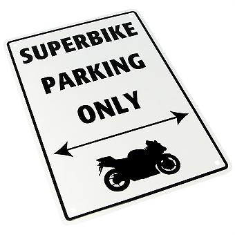 Bike It Aluminium Parking Sign - Superbike Parking Only