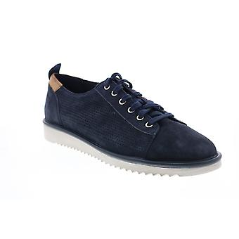 Geox U Dayan Mens Blue Suede Lace Up Euro Sneakers Chaussures