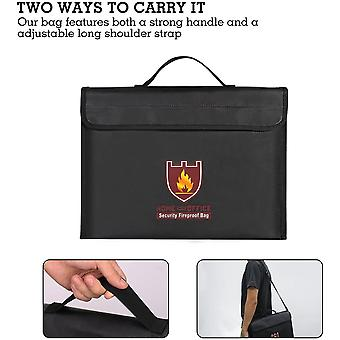 Fireproof Document Bag Fire and Water Resistant File Money Battery Safe Organizer Storage Bag