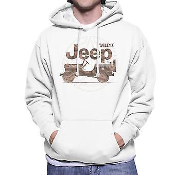 Jeep Willys MA Star Men's Hooded Sweatshirt