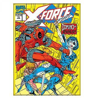 Deadpool X-Force Comic Cover Domino paljastettu magneetti