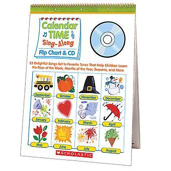 Calendar Time Sing Along Flip Chart And Cd, Grade Prek-1