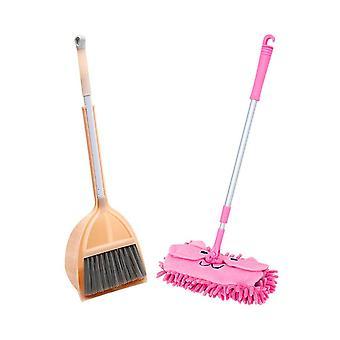 Children's Broom Dustpan Mop Set, Mini Corner Cleaning, Baby House Sweeping