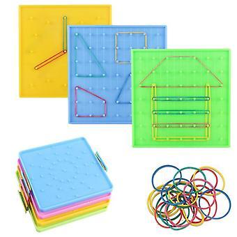 Placa de uñas de plástico, juguete educativo de matemáticas primarias