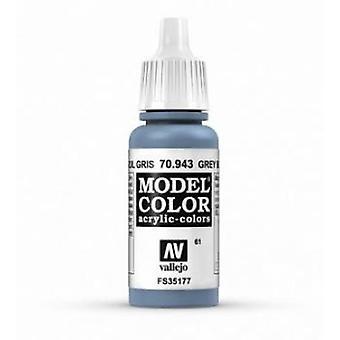 Vallejo Model Color 17ml Acrylic Paint - 943 Grey Blue