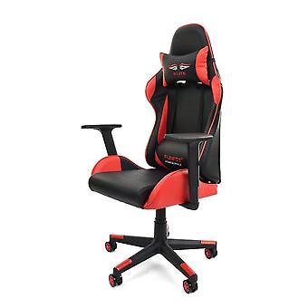 Krzesło do gier z eko skóry - Black/Red - Krzesła do gier