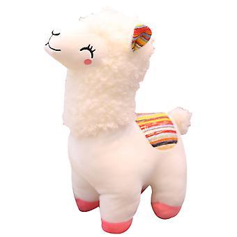 Muhkea nukke lelu söpö hymyilevä alpakka lapset syntymäpäivä lahja