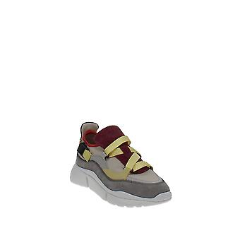 Chloé | Sonnie Mixed-Media Low-Top Sneakers