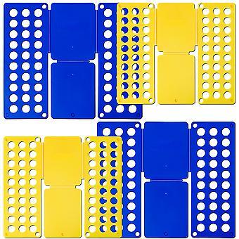 tectake 4x Tøjfolder 2x 36 x 42 cm & 2x 59 x 70 cm - blå
