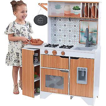 HanFei 53440 Taverna mit Licht-und Soundeffekten mit EZ Kraft Assembly Spielkche aus Holz fr Kinder
