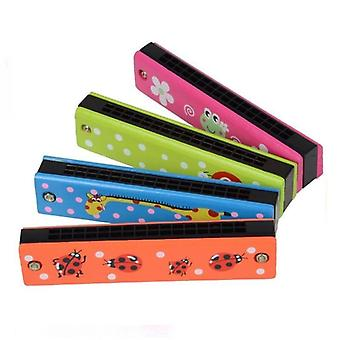 Wooden Tremolo Harmonica Kids Musical Instrument Educational Toy