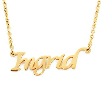 KL Kigu Ingrid, women's necklace with personalized name, fashionable jewelry, gift for girlfriend, mom, sister