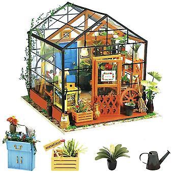 FengChun DIY Holz Puppenhaus Miniatur 3d Gewächshaus Kit Handwerk Kits für Erwachsene Geburtstag für Frauen