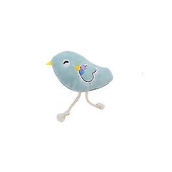 2Pcs पक्षी बिल्ली कार्टून पशु आकार आलीशान खिलौने के साथ catnip az507