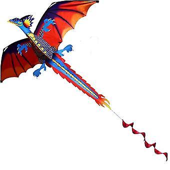 ستيريو Pterosaur / التنين الطائرات الورقية مع مقبض وخط، تحلق جيدة