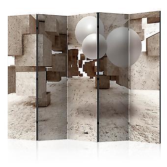 5-teiliges Paravent - Concrete Maze II [Room Dividers]