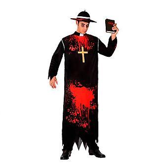 Kostüm für Erwachsene Priester blutig (1 Stk)