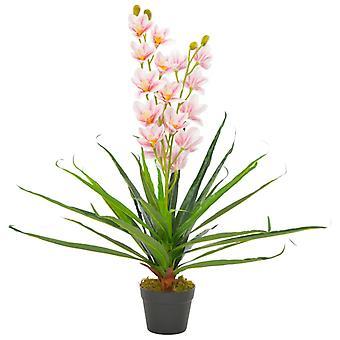 Kunstplant Met Pot Orchidee 90 Cm Roze