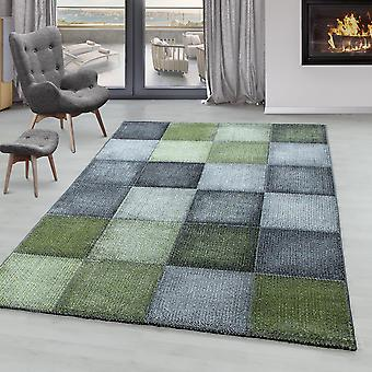 Sala de estar Alfombra ONTARIO Short Pile Soft Modern Square Pixel
