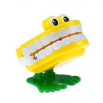 Uutuus chattering käämitys ylös kävelevät hampaat lelu silmät