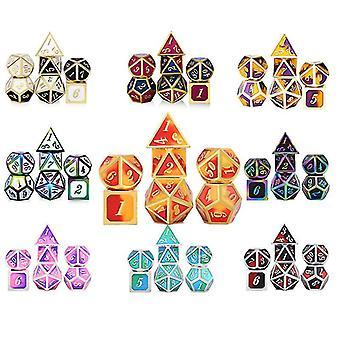 4 Kovové kostky set role hraní dragons magické kostky bar party stolní hra koníčky dárek 7ks / set fa0458
