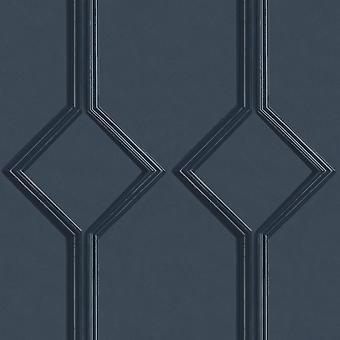 Azzurra Panel Navy Wallpaper