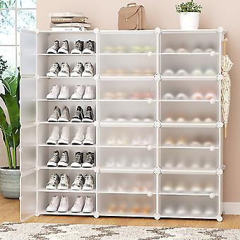 Cube Plastic Dustproof Shoe Cabinet DIY Multilayer Shoe Rack Storage Shoes Boots Organizer with Door Home Furniture Space Saving
