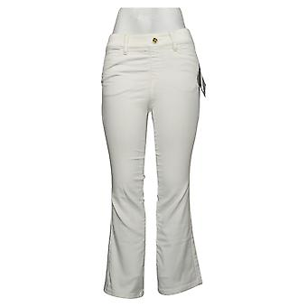 IMAN Global Chic Women's Petite Jeans Pull On Bootcut White 734928100